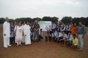 students and Principal Mr P C Rath in Group Photo
